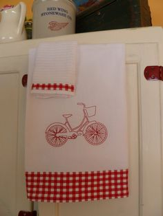 Kitchen Towel Set by FreshMakedHome on Etsy