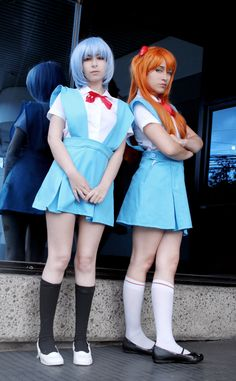 Rei and Asuka by MaryAlfaro.deviantart.com on @deviantART