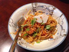 Made spaghetti and tomato sauce using organic flaxseed oil @Alligga_Health #trynatural
