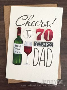 Hello hello :)    It's been a busy birthday week with cards I needed to make and send, one of which was this one for my lovely Dad who cele...