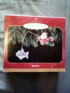 Hallmark REEL FUN 1999 SANTA Fishing Ornament NIB Christmas KEEPSAKE Fish Ornaments, Hallmark Christmas Ornaments, Fishing, Santa, Fun, Ebay, Peaches, Pisces, Hilarious