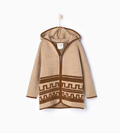 Knit jacket with hood