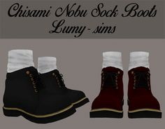 Chisami Nobu Sock Boots updated at Lumy Sims via Sims 4 Updates