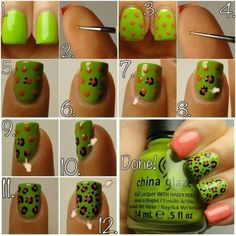 How to do a leopard print nail design