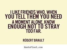 Quotes about friendship - I like friends who, when you tell them you need a moment..