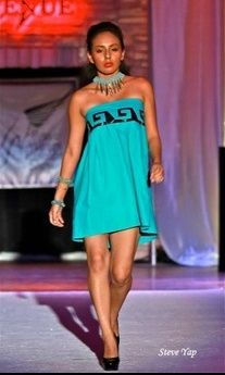 Cher Thomas Designs - Spring 2013 O'odham sundress. Native fashion, contemporary American Indian Clothing.