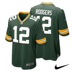 Aaron Rodgers Green Bay Packers YOUTH NFL Nike Game Jersey. Click to order! - $69.99