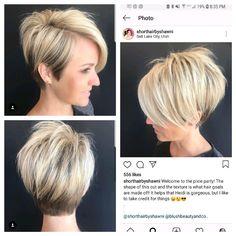 Pin on bob hairstyles for fine hair Bob Hairstyles For Fine Hair, Cool Hairstyles, Casual Hairstyles, Medium Hairstyles, Latest Hairstyles, Weave Hairstyles, Short Hair Cuts For Women, Short Hair Styles, Short Cuts