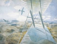 """""""Hurricanes in Flight"""" by Eric Ravilious, 1942"""