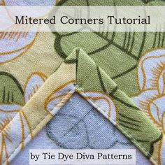 Mitered Corners Tutorial
