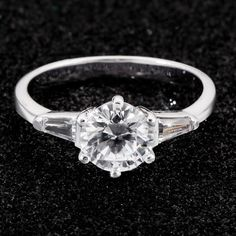 Silver Cubic Zirconia Ring *Prices Valid Until 25 Dec 2013 Gold Jewelry, Fine Jewelry, Jewellery, Cubic Zirconia Rings, Silver Rings, Engagement Rings, Diamond, Classic, Bracelets