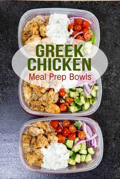 Chicken Bowls (Meal Prep Easy) Greek Chicken Meal Prep Bowls are great for healthy eating.Greek Chicken Meal Prep Bowls are great for healthy eating. Clean Eating Recipes, Lunch Recipes, Healthy Eating, Healthy Recipes, Healthy Meals, Healthy Food, Cheap Recipes, Healthy Chicken, Health Lunches For Work