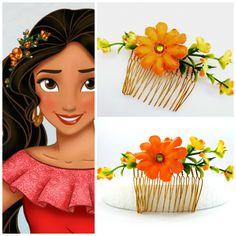 Princess Elena Costume, Princess Elena Of Avalor, 4th Birthday Parties, Girl Birthday, Elana Of Avalor, Flowers In Hair, Flower Hair, Princess Party, Princess Crafts