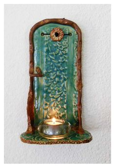 Pottery Wall Shelf by rikablue on Etsy, $38.00