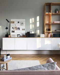 Selbstgemachter Schrank im Arbeits-/Wohnzimmer - eigentlich ein Küchenschrank von IKEA - wie er zu dem wurde, was er ist, erfahrt ihr auf 170qm.com