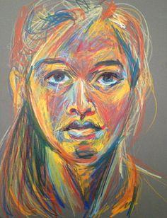Pastel Self Portrait #1