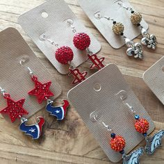 New listings for Gameday earrings coming soon. These make a great Christmas gift or stocking stuffer for the sports fanatics in your life.