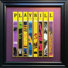 Create a custom piece of Playbill art from all your favorite shows! This is an opportunity to have a custom made piece for you. Sometimes its hard to find a unique way to showcase a cherished Playbill collection. They are expensive to frame individually, you run out of wall space or you get tired of looking at the same one. This is a fantastic way to display several of your favorites at once! Each piece I make is unique and one of a kind. You can select up to 8 different shows to make up…
