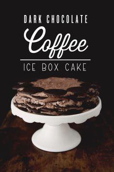 Dark Chocolate Coffee Ice Box Cake