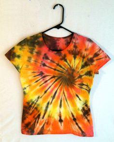 Tie Dye Shirt Womens Tee  Tiger Style  by RainbowEffectsTieDye, $13.00