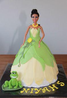 Barbie Taarten - Koning Kikker Princess and the frog cake