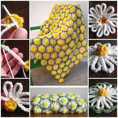 Crochet Vintage Daisy Motif is very gentle and original plaid. This is a basic crochet pattern, which is easy for beginners to make scarfs or blankets.