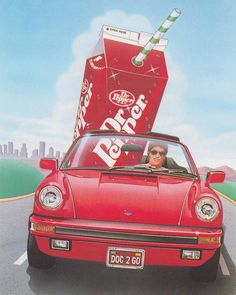 Dr Pepper Delivery 🚗 Airbrush by John Hamagami. 1987 … Via: 'chromeandlightning'⚡️ … Dr. Pepper, Cyberpunk, 1980s Art, 80s Design, Graphic Design, Italo Disco, Retro Images, Retro Pics, Summertime Sadness