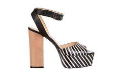 stripes leather sandal - fiorifrancesi