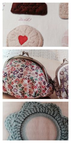 ISSUE 4 - felt biscuits, fabric purses, crocheted hoop frames