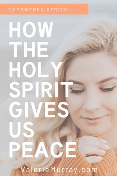 How the Holy Spirit Gives Us Peace - Cord of 6 When life is busy and our circumstances are difficult, we are not without hope. Learn how the Holy Spirit gives us peace when life is heard. Christian Living, Christian Faith, Christian Quotes, Christian Women, Bible Verses, Scriptures, Prayer Verses, Bible Quotes, Saint Esprit