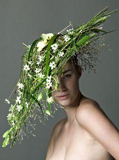 Nina Robenhagen's floral fascinator