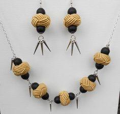 Ensemble collier et boucles d'oreille perles par jewelryBYplk, $40,00