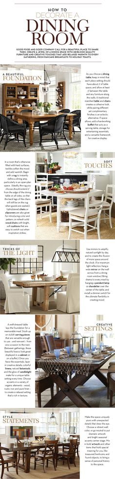 How to Decorate a Dining Room   Pottery Barn