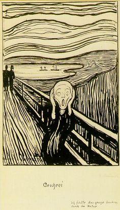german-expressionists:    Edvard Munch, Skrik (The Scream), 1895
