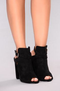 d6764924a38 Best On The Block Bootie - Black 2 Inch Heels