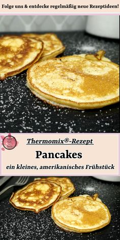 Pancakes - A Small American Breakfast Thermomix® recipe - Pancake is a quick and great dish for in between. But the little cute American pancakes put one on - Mini Pancakes, Pancakes Easy, Vegan Pancakes, Breakfast Pancakes, Best Pancake Recipe, American Pancakes, American Breakfast, Mini Tortillas, Pancakes
