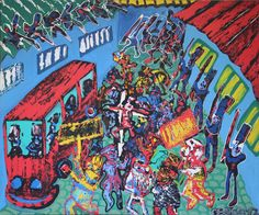André Cervera - La capitale de l'embrouille | Peinture | Artsper