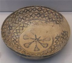 Pottery in the Samarra style was being made within the period 6000-5500 BC. The style probably originated in central Iraq, but spread northwards. The pots are made by hand, with dark paint on a pale ground.
