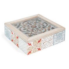 Scatola da tè Mosaico H 8 cm