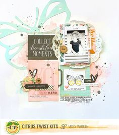 "Citrus Twist Kits DT Project - 2016 February Main ""Stories"" Kit; Crate Paper, Maggie Holmes, Pink Paislee"