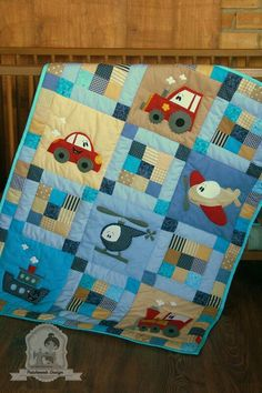 Trendy Patchwork Quilt Baby Boy Best Picture For scrappy patchwork quilting For Your Taste You are looking for something, and it is going to tell you exactly what you are looking for, and you didn Baby Boy Quilt Patterns, Baby Patchwork Quilt, Baby Boy Quilts, Girls Quilts, Quilt Block Patterns, Applique Quilts, Hexagon Patchwork, Baby Applique, Cute Quilts