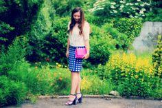 Topshop blue and white checked skirt www.reservedforruby.com Topshop, Blue And White, Skirts, Beauty, Fashion, Moda, Fashion Styles, Cosmetology, Skirt