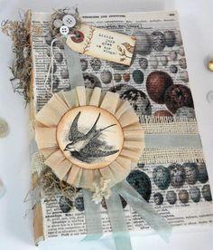 Hudson's Holidays - Designer Shirley Hudson: Spring Time Birds & Eggs book- instructions to make book
