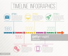 timeline layout infographics