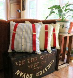 Memory Pillow with Suspenders from @MaidenJane                                                                                                                                                                                 More