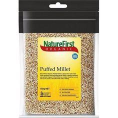 Natures First Organic G/F Puffed Millet 150g - http://www.veggiemeals.com.au/shop/grocery/natures-first-organic-gf-puffed-millet-150g/ #150G, #F, #First, #G, #GroceryGtGrainsNutsAndSeeds, #Health, #Millet, #NatureS, #Organic, #Products, #Puffed #veggiemeals #vegetarian