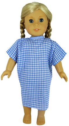 Made from cotton gingham, this hospital gown ties at the back just like your traditional hospital gowns.