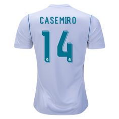13017ca7b 2017 18 Casemiro Jersey Number 14 Home Replica Men s Real Madrid Team Real  Madrid Team