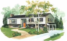 Eplans Contemporary-Modern House Plan - Split The Difference - 2140 Square Feet and 4 Bedrooms(s) from Eplans - House Plan Code HWEPL00376