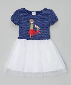 Look at this Navy Dot Girl Dress - Infant, Toddler